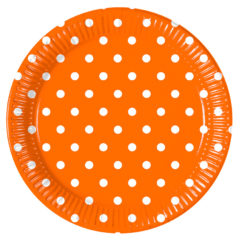Orange Dots - Paper Plates Large 23cm