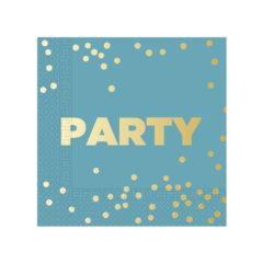Party Premium - Three - Ply Paper Napkins Metallic 33 x 33 cm - 90615