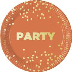 Party Premium - Paper Plates Metallic Large 23 cm - 90613