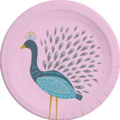 Peacock - Paper Plates Large 23 cm - 90584