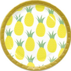 Pineapple Fresh - Paper Plates Large 23 cm - 90596