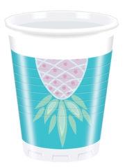 Pineapples - Plastic Cups 200ml