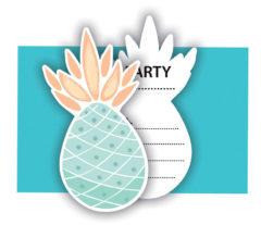 Pineapples - Die-cut Invitations & Envelopes