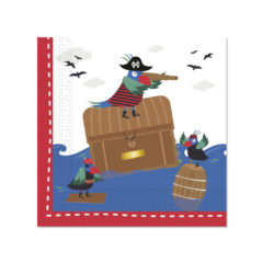 Pirates In The Sea - Two - Ply Paper Napkins 33x33 cm - 90245