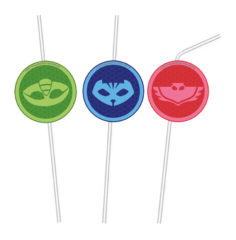 Pj Masks - Medallion Flexi Drinking Straws