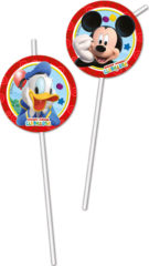 Playful Mickey - Medallion Flexi Drinking Straws