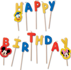 "Playful Mickey - ""happy Birthday"" Toothpick Candles"