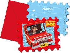 Postman Pat - Die-cut Invitations & Envelopes