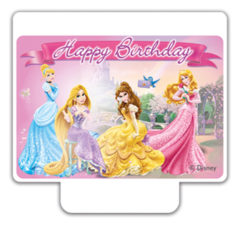 "Princess Heart Strong - ""Happy Birthday"" Décor Candle - 82904"