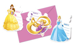 Princess Heart Strong - Die-cut Invitations & Envelopes (3 Mixed Design)
