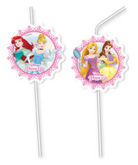 Princess Heart Strong - Medallion Flexi Drinking Straws