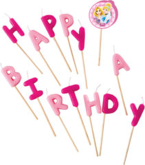 "Princess Heart Strong - ""Happy Birthday"" Toothpick Candles - 81592"