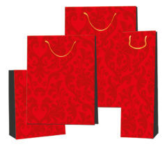 Everyday Paper Gift Bags - Gift Paper Bag For Bottle 120x100x380 Red Ornament
