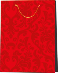 Everyday Paper Gift Bags - Gift Paper Bag 265x135x340 Red Ornament - 2988