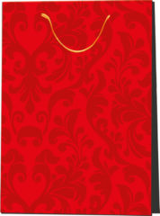 Everyday Paper Gift Bags - Gift Paper Bag 300x120x410 Red Ornament - 5228