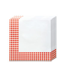 Red, Green, Yellow, Black, Blue Squares - Two-ply Paper Napkins 33x33cm Red Squares