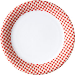Red, Green, Yellow, Black, Blue Squares - Paper Plates Small 16 Cm Red Squares