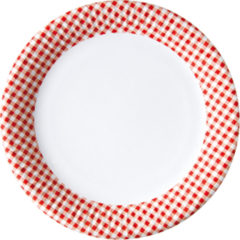 Red, Green, Yellow, Black, Blue Squares - Paper Plates Medium 20 Cm Red Squares