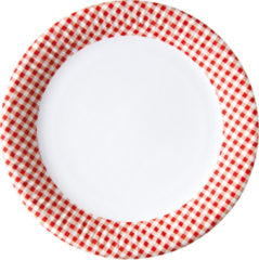 Red, Green, Yellow, Black, Blue Squares - Paper Plates Large 23 Cm Red Squares