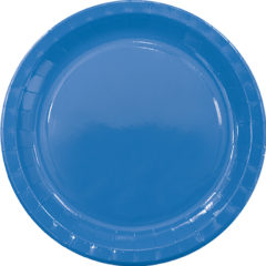 Solid Colors - Paper Plates Large 23cm Blue - 89497