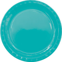 Solid Colors - Paper Plates Large 23cm Mint - 89604