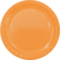 Solid Colors - Paper Plates Large 23cm Orange - 89499
