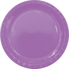 Solid Colors - Paper Plates Large 23cm Purple - 89500