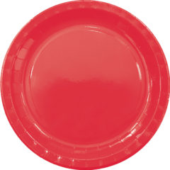Solid Colors - Paper Plates Large 23cm Red - 89496