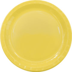 Solid Colors - Paper Plates Large 23cm Yellow - 89498