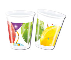Sparkling Balloons - Plastic Cups 200ml