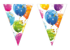 Sparkling Balloons - Triangle Flag Banner (9 Flags) - 88154