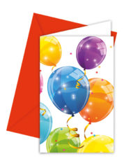 Sparkling Balloons - Invitations & Envelopes