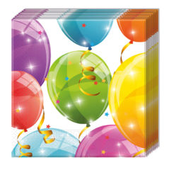 Sparkling Balloons - Two-ply Paper Napkins 33x33cm