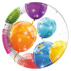 Sparkling Balloons - Paper Plates Medium 20cm