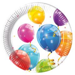 Sparkling Balloons - Paper Plates Large 23cm