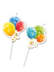 Sparkling Balloons - Medallion Flexi Drinking Straws