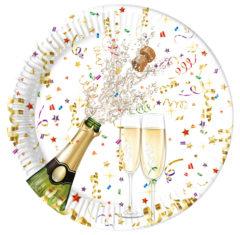 Sparkling Celebration - Paper Plates Large 23cm Metallic