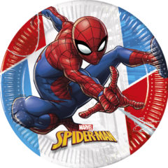 Decorata™ Compostable Spider-man Super Hero  - Paper Plates Large 23cm - 90948