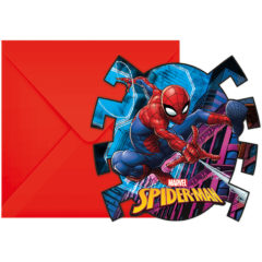 Spider-Man Team  Up - Die-Cut Invitations & Envelopes - 89453