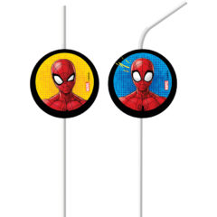 Spiderman Team  Up - Medallion Flexi Drinking Straws - 89452