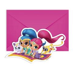 Shimmer & Shine - Die-cut Invitations & Envelopes - 89962