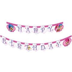 """Shimmer & Shine - """"Happy Birthday"""" Die-cut Banner - 89950"""