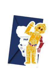 Star Wars Forces - Die-cut Invitations & Envelopes