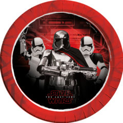 Star Wars The Last Jedi - Paper Plates Large 23cm (the First Order) - 88548