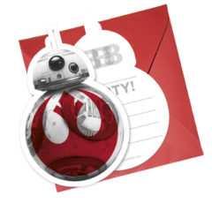 Star Wars Episode 8 - Die-cut Invitations & Envelopes