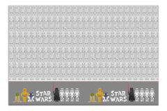 Star Wars Paper Cut - Plastic Tablecover 120x180cm - 88991