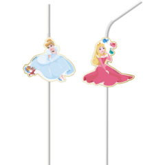 True Princess - Medallion Flexi Drinking Straws - 88968
