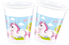 Unicorn - Plastic Cups 200ml