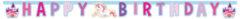 """Unicorn - """"happy Birthday"""" Die-cut Banner - 85676"""