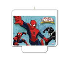 "Ultimate Spider-Man Web Warriors - ""happy Birthday"" Décor Candle - 85177"